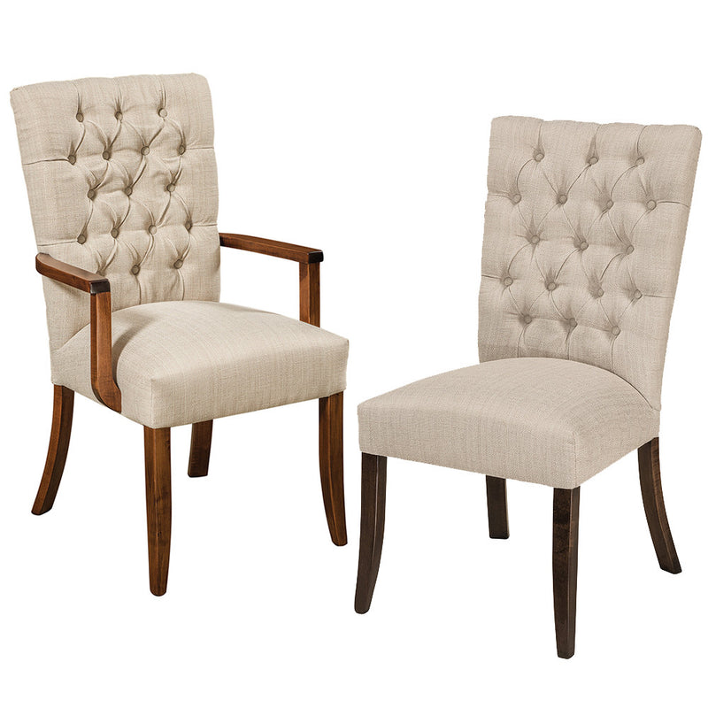 Alana Tufted Arm and Side Chair by Home and Timber