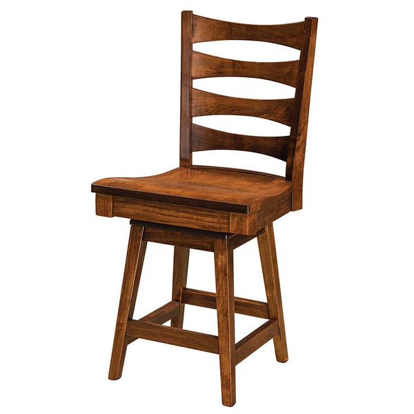 Armanda Solid Wood Swivel Bar Chair | Home and Timber