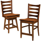 Armanda Swivel and Stationary Bar Chairs by Home and Timber