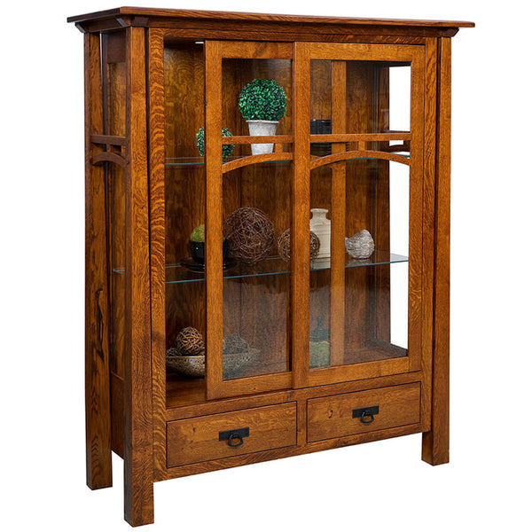 Artesa Curio Cabinet | Doors Open | Home and Timber