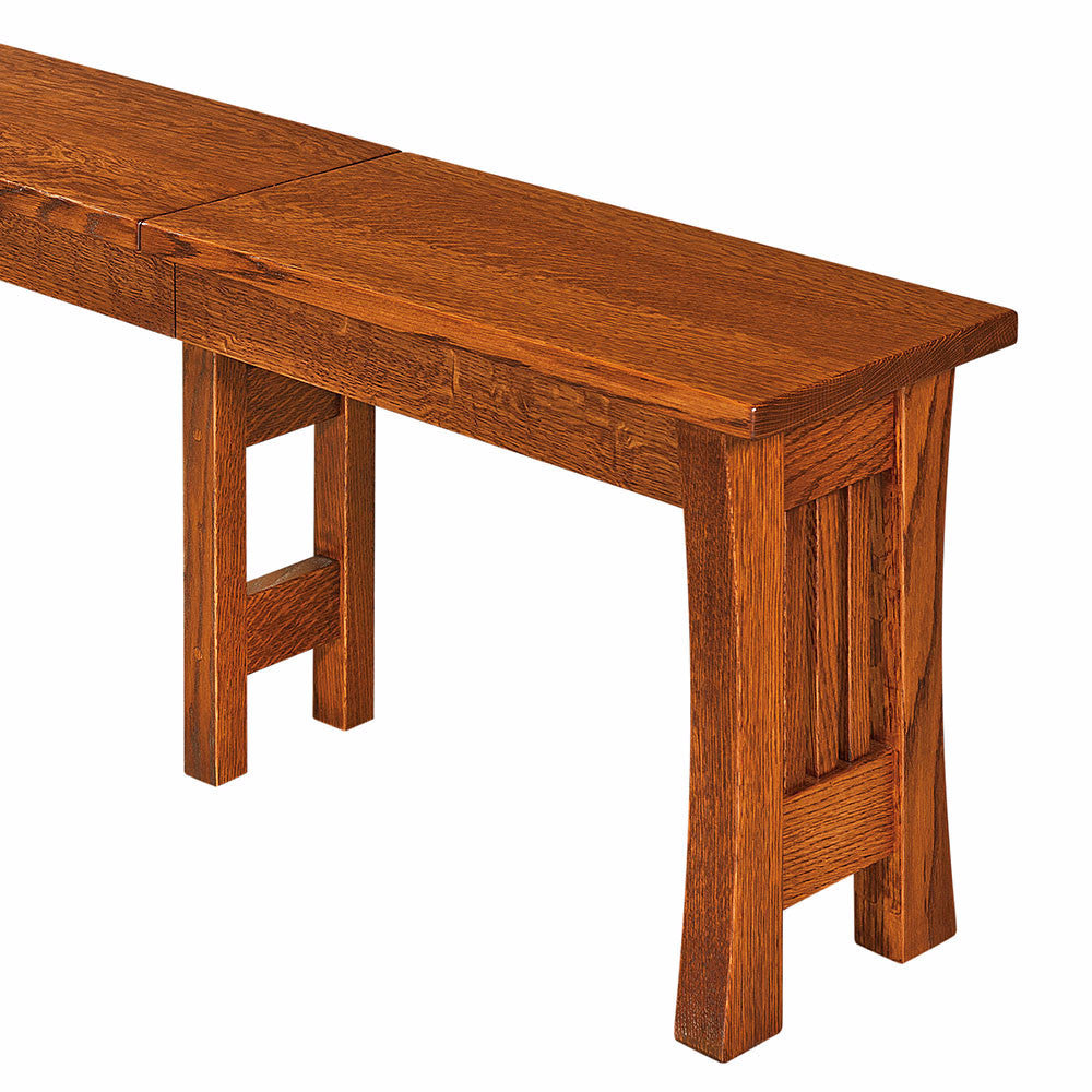 Arts & Crafts Expandable Dining Bench | Home and Timber