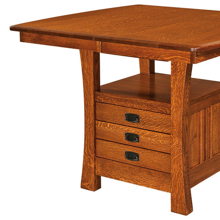 Superior Arts And Crafts Extension Bar Table   Home And Timber Great Pictures