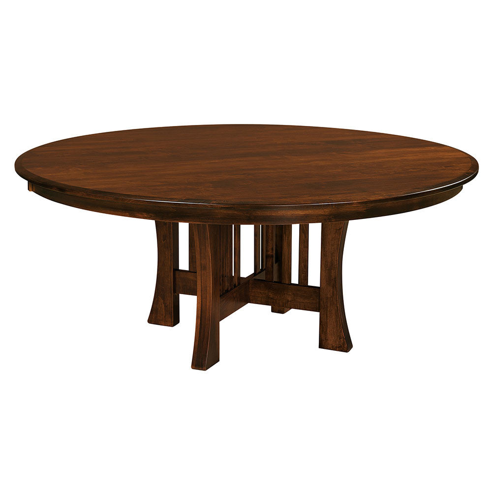 Arts & Crafts Round Dining Room Table by Home and Timber