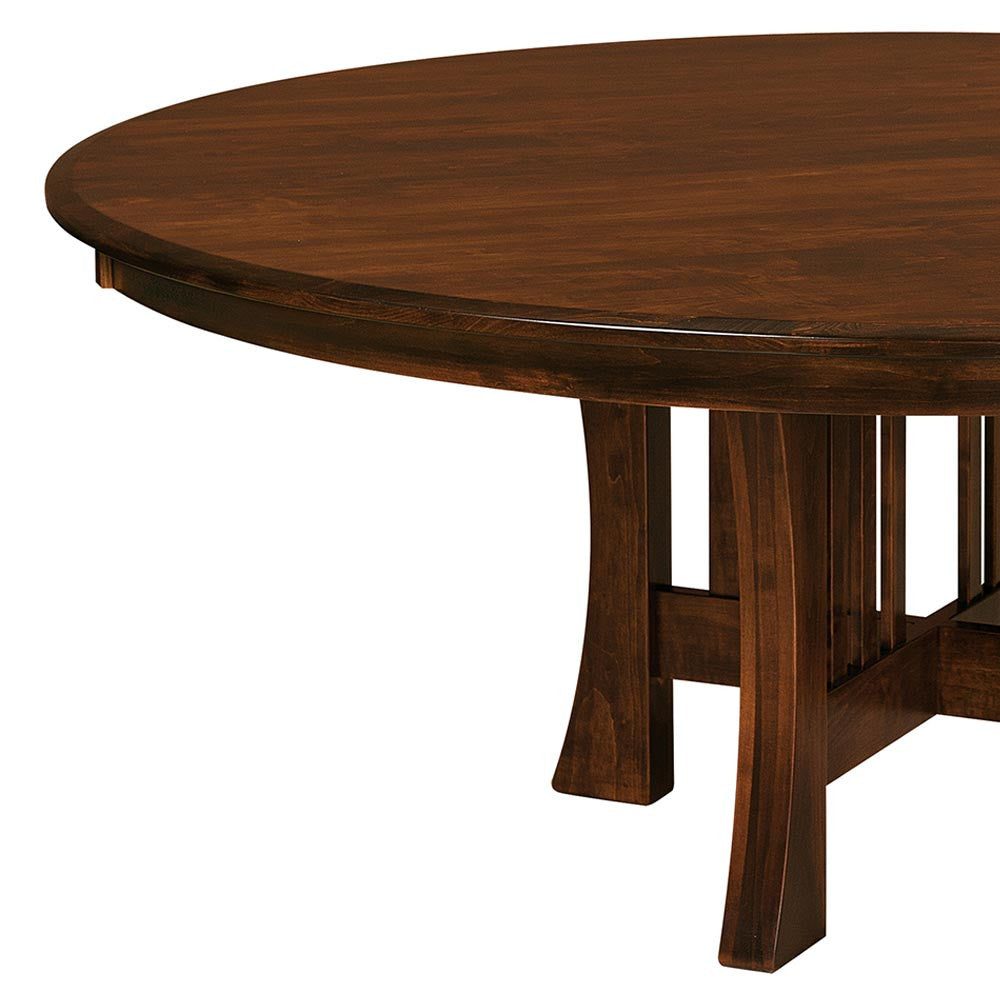 Arts and Crafts Single Pedestal Extension Table | Home and Timber