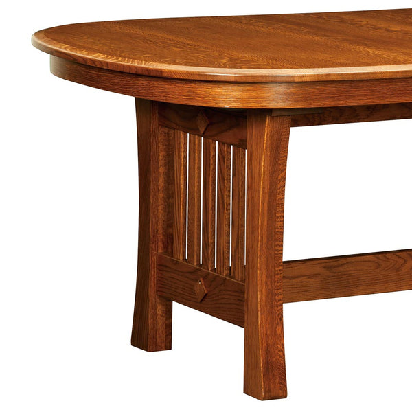 Arts Amp Crafts Trestle Dining Table Home And Timber