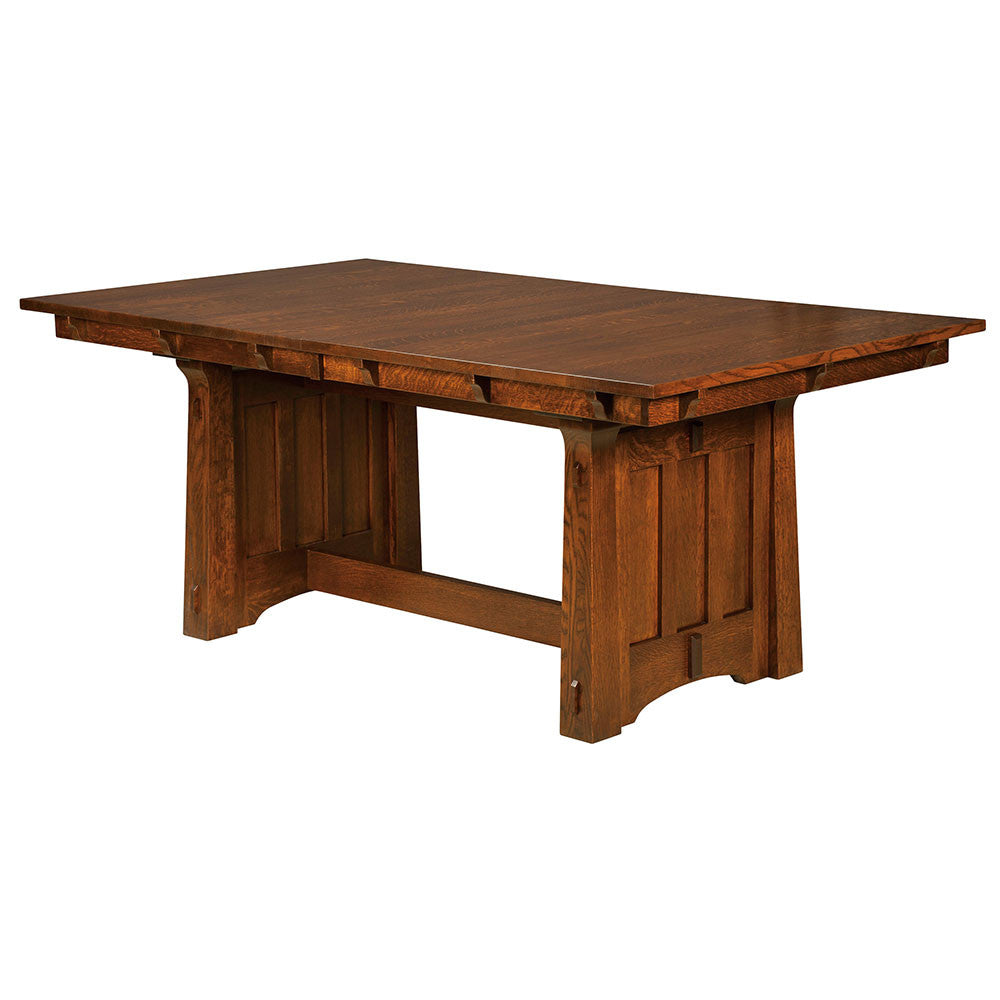 Beaumont Trestle Table | Angle | Home and Timber