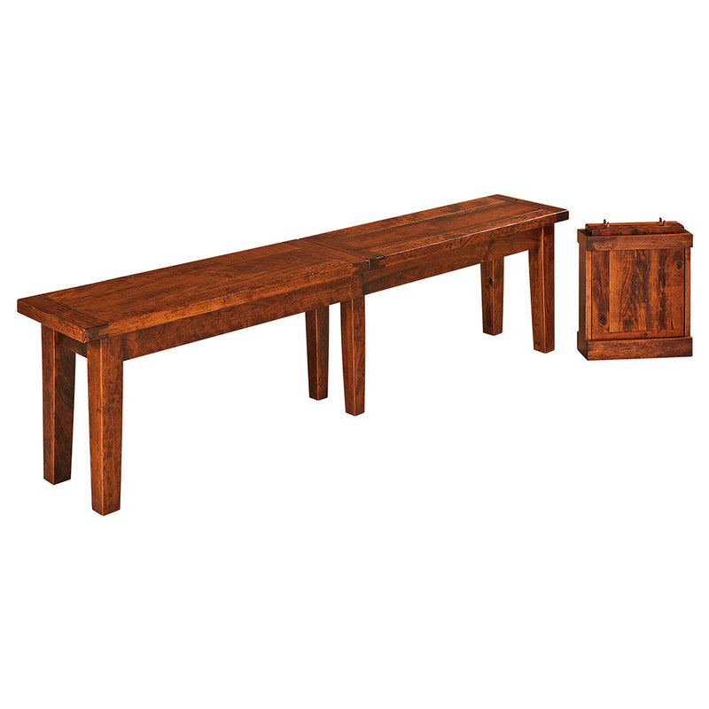 Benson Plank Top Extension Bench | Home and Timber
