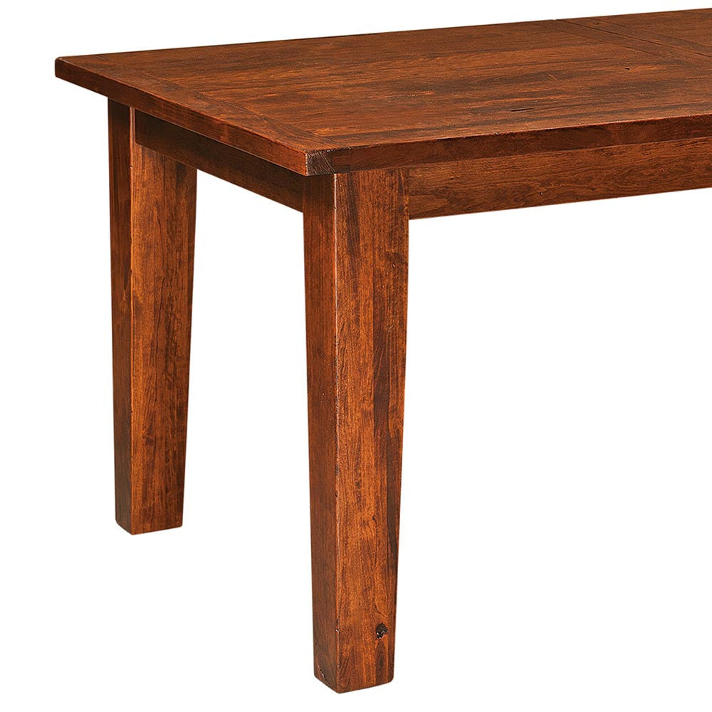 Benson plank top leg table home and timber watchthetrailerfo