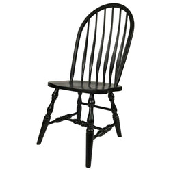 Bent Feather Dining Chair in Black Paint