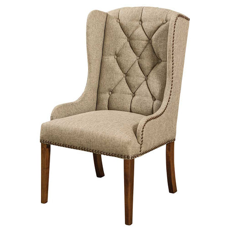 Hardwood Furniture. Bradshaw Tufted Upholstered Arm Chair In Fabric