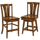 Brawley Solid Wood Bar Chairs by Home and Timber