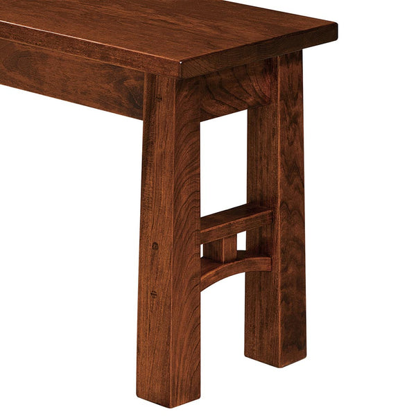 Bridgeport Dining Bench Leg Detail by Home and Timber