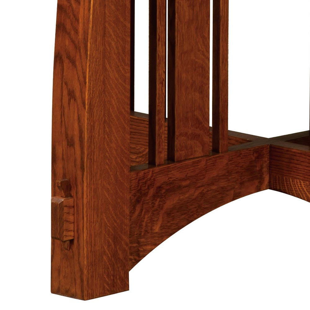 Brookville Single Pedestal Table | Mortise and Tenon Detail | Home and Timber