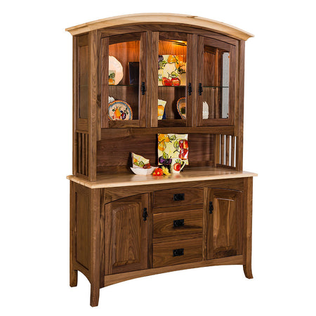 Cambria Hutch | Walnut with Maple Top | Home and Timber