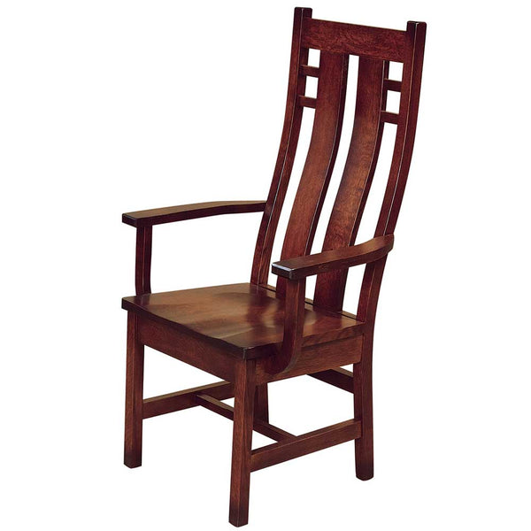 Cascade Arm Dining Chair in Quarter Sawn White Oak