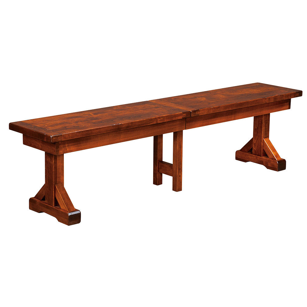 Chesapeake Plank Top Extension Bench | Home and Timber