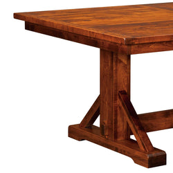 Chesapeake Plank Top Trestle Table | Home and Timber
