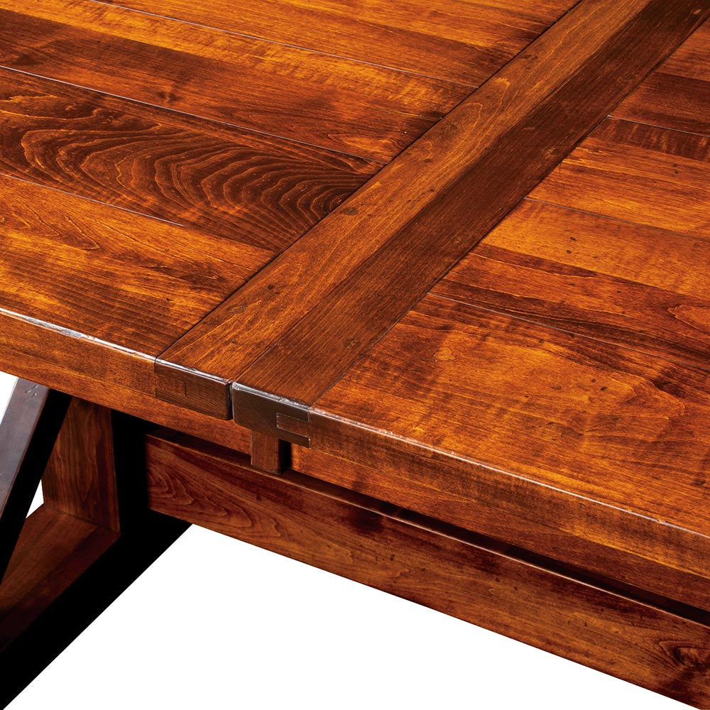 Chesapeake Trestle Table | Plank Top Detail | Home and Timber