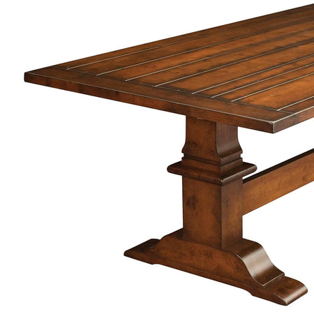 Chesterton Plank Top Trestle Table | Home and Timber