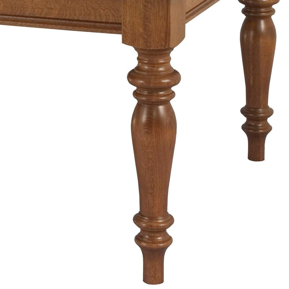 Harvest Leg Table | Leg and Skirt Detail | Home and Timber