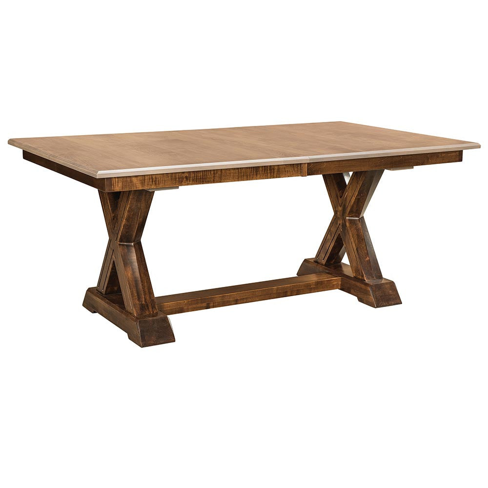Knoxville trestle dining table home and timber - Expandable buffet dining table ...