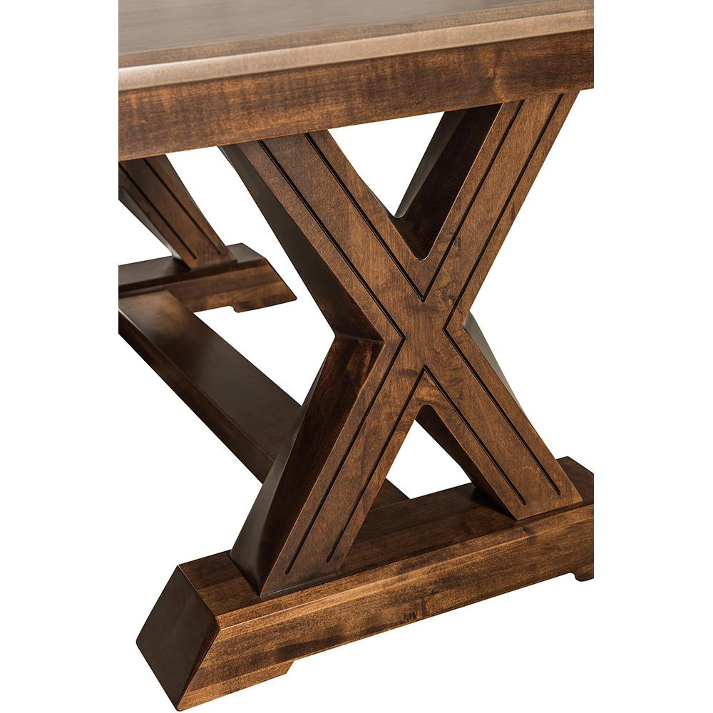 ... Knoxville Trestle Table By Home And Timber | Grooved X Trestle Base ...