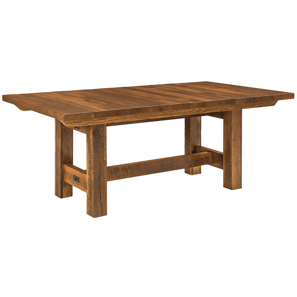 Lynchburg Reclaimed Barn Wood Trestle Table by Home and Timber | Full Table