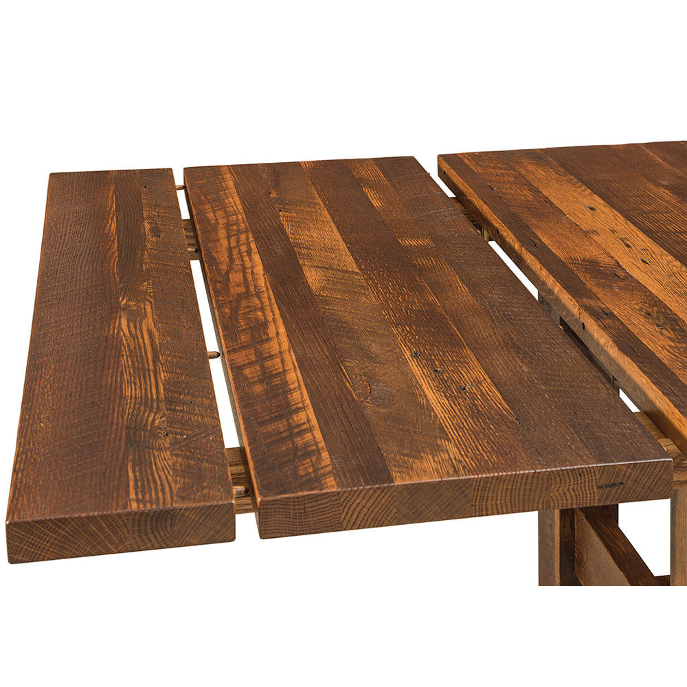 ... Lynchburg Reclaimed Barn Wood Trestle Table By Home And Timber |  Extension Detail ...