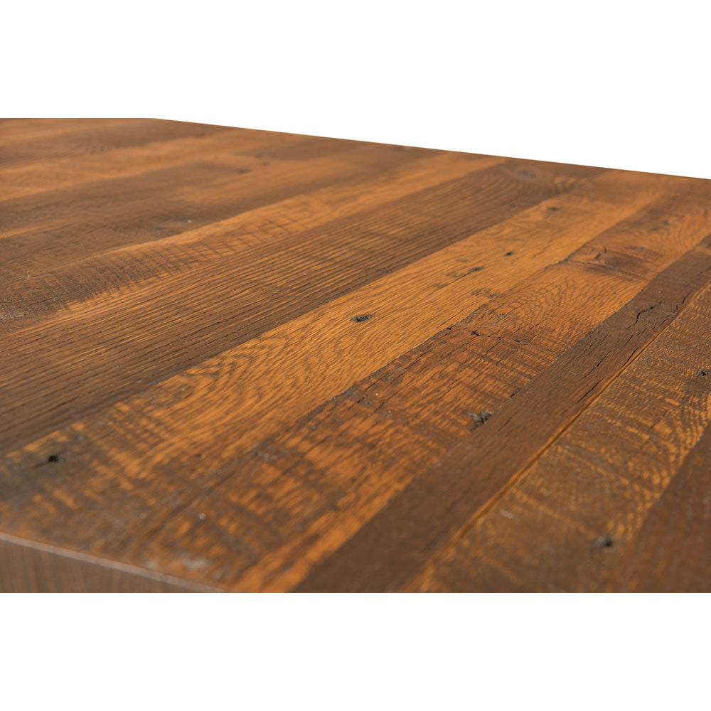 Lynchburg Reclaimed Barn Wood Trestle Table by Home and Timber | Table Top Detail