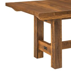 Lynchburg Reclaimed Barn Wood Trestle Table by Home and Timber