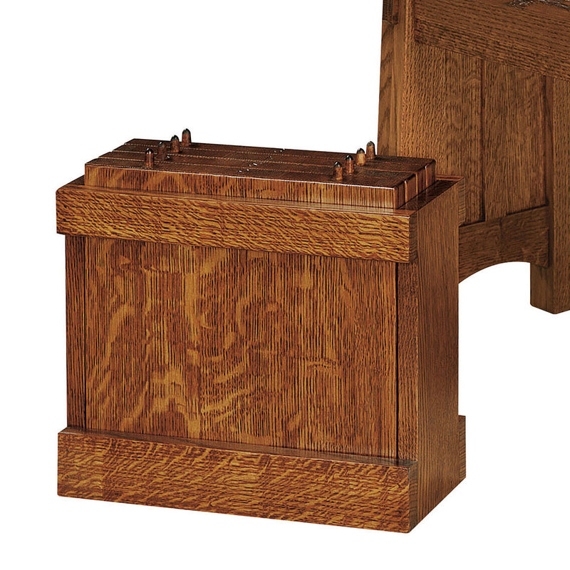 McCoy Dining Bench Leaf Storage Box by Home and Timber