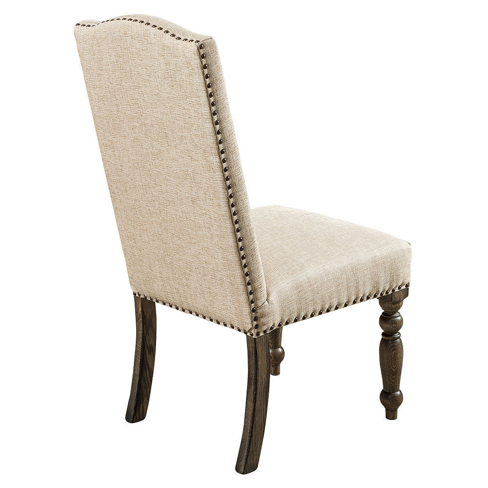 Olson Upholstered Dining Chair Back Detail | Home and Timber