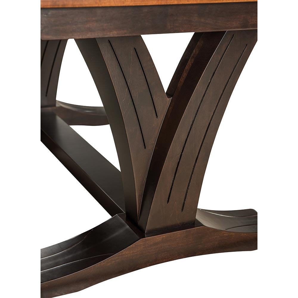 ... Paris Dining Table By Home And Timber | Solid Wood Trestle Base ...