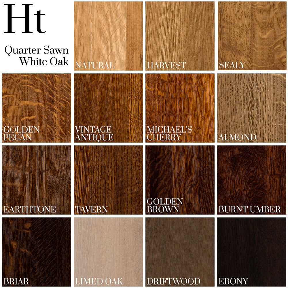 Color Palette on Quarter Sawn White Oak - Home and Timber