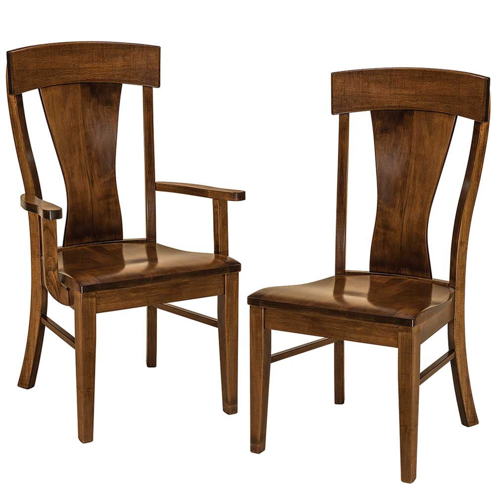 Ramsey Solid Wood Dining Chairs by Home and Timber