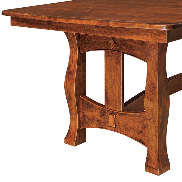 Reno Trestle Dining Table by Home and Timber