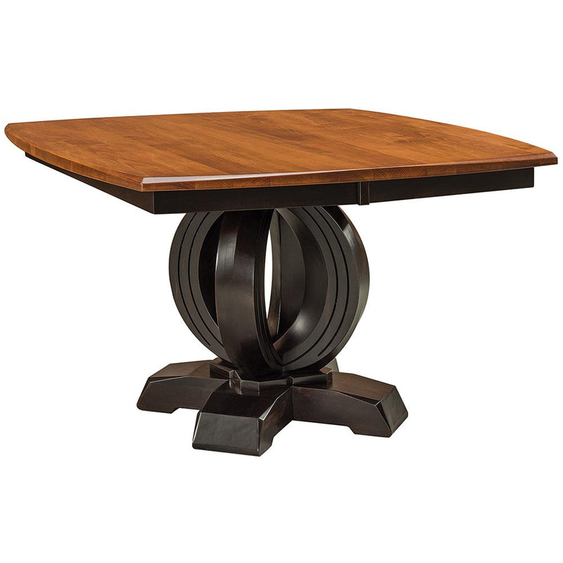 Saratoga Expandable Pedestal Dining Table by Home and Timber