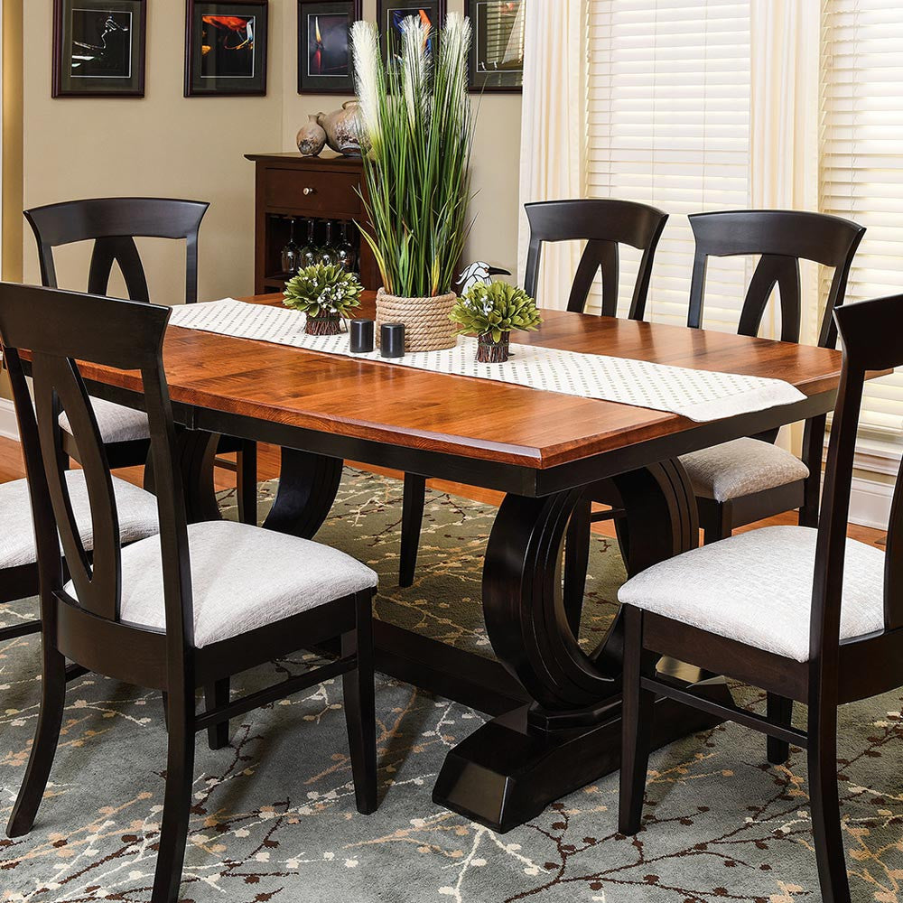 ... Saratoga Expandable Trestle Table With The Brookfield Dining Chair By  Home And Timber ...