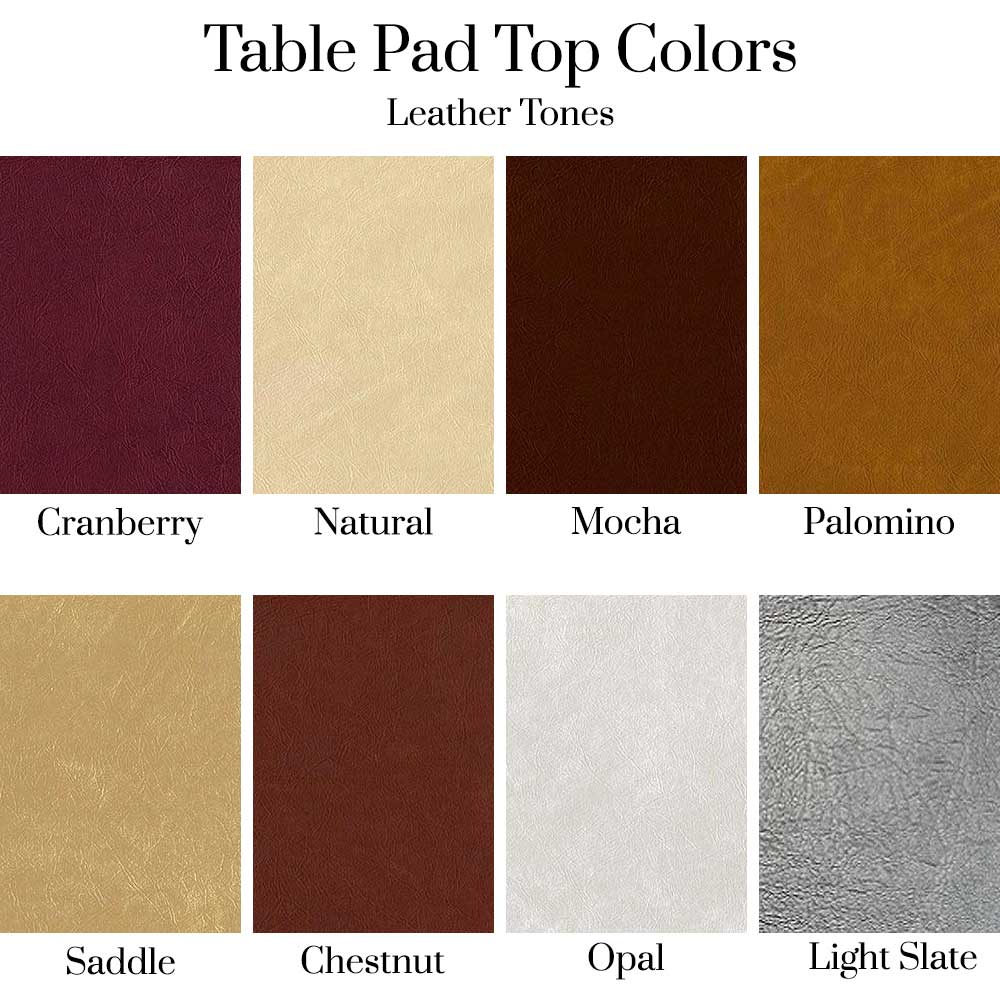 Table Pad Top Colors - Leather Tones
