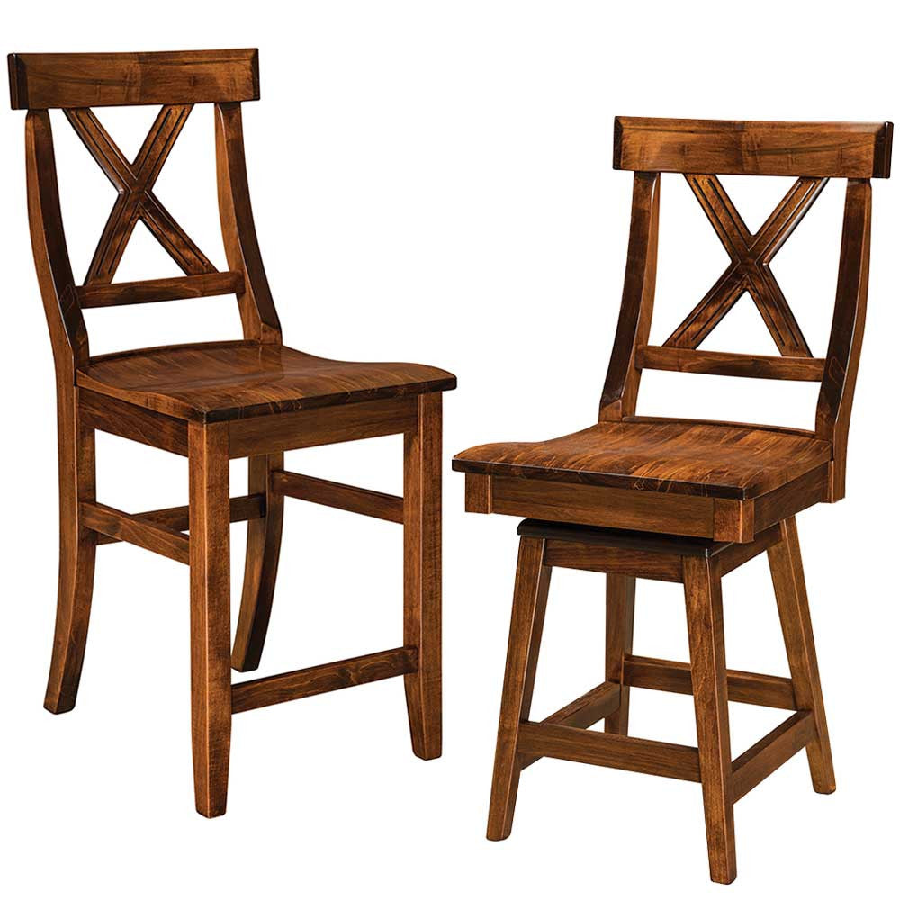 Vornado Solid Wood Bar Chairs by Home and Timber
