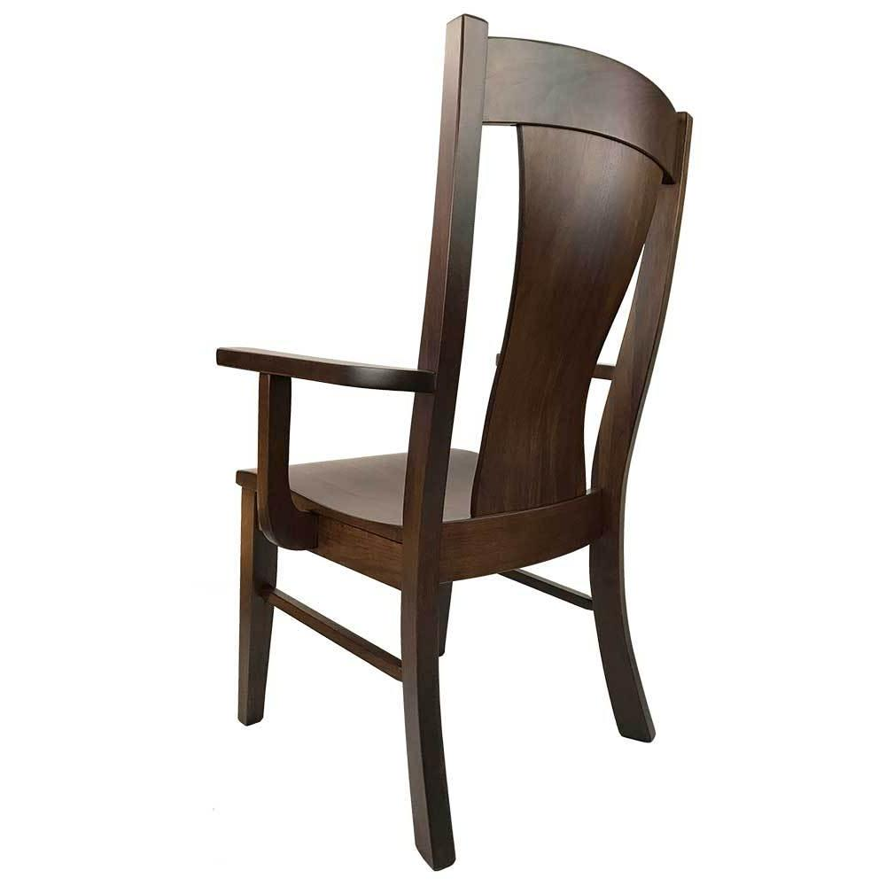 Westin Arm Chair in Walnut with a Tavern Stain Back View
