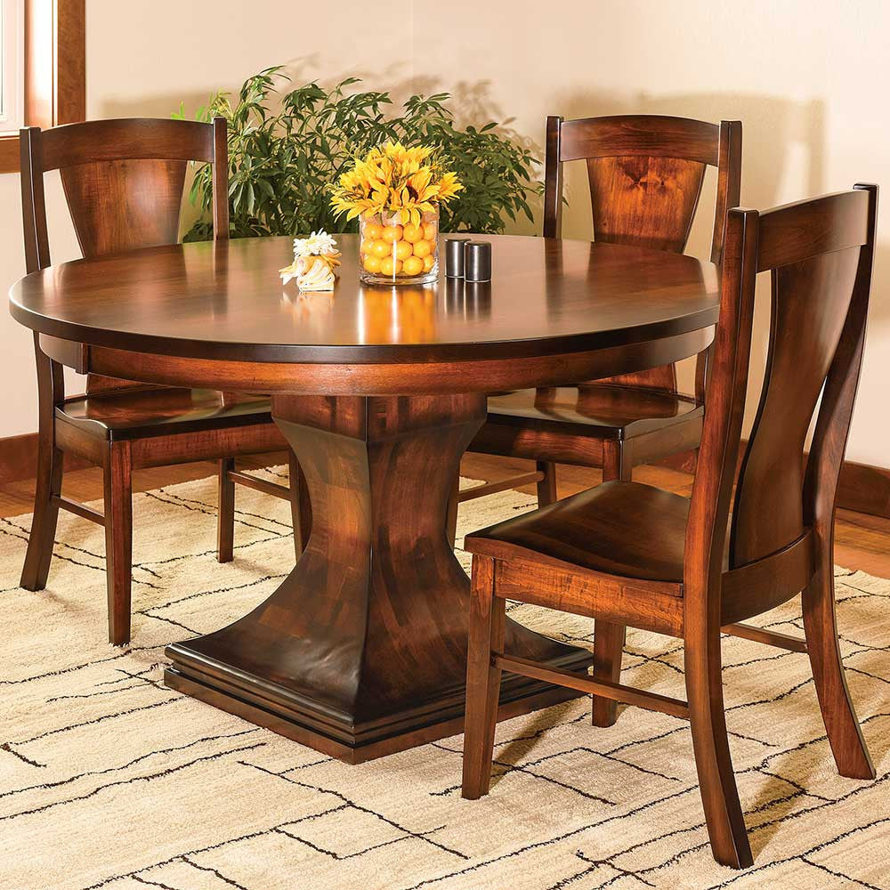 Westin Dining Chair with the Westin Single Pedestal Table by Home and Timber
