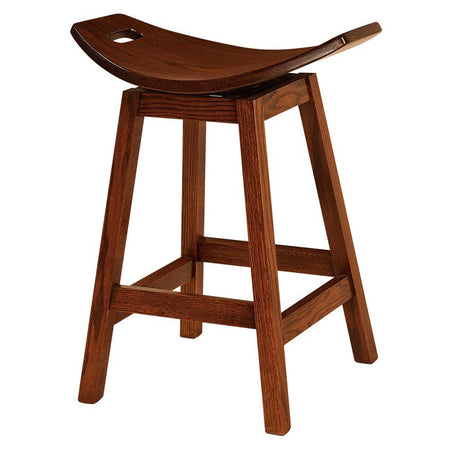 Wilford Swivel or Stationary Bar Stool by Home and Timber