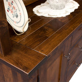 Williamsburg Buffet or Hutch Breadboard Top by Home and Timber