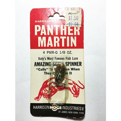 Panther Martin 1/8 oz  Spinner Black, Yellow Dots, New in Red/Black Package - Vintage