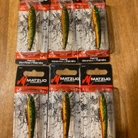 6 Matzuo Nano Minnow 8/32 oz Perch (inv#714)