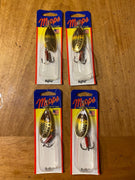 (4) Mepps Aglia Brown Trout #5 1/2 oz (inv#513)