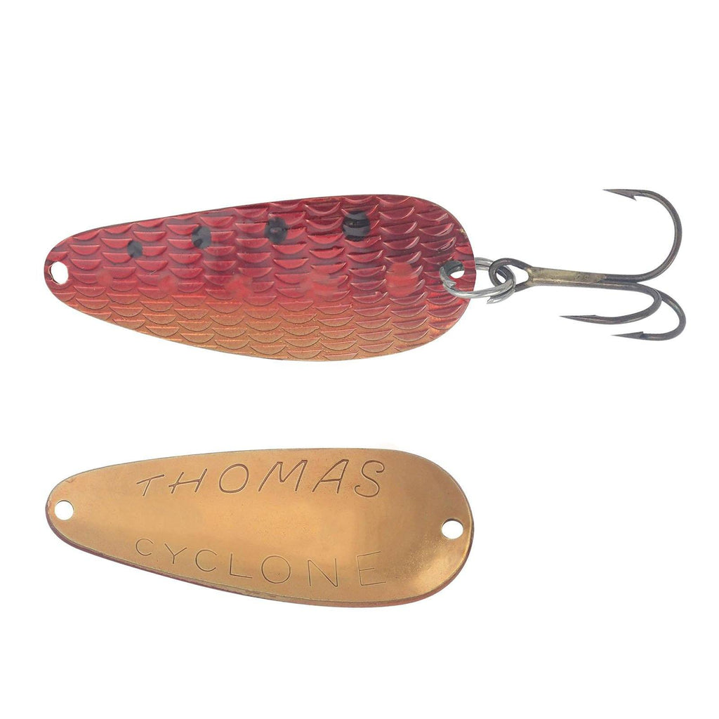 Thomas Lures Cyclone Spoon Gold Red 1/4 oz