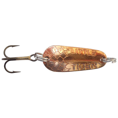 (12) Thomas Lures Little Tiger Copper/Gold Spoons 1/4 oz (New in Package)