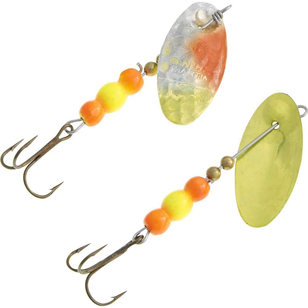 Panther Martin Hammered Two-Tone Roe Trout Spinner (Choose Size & Color)